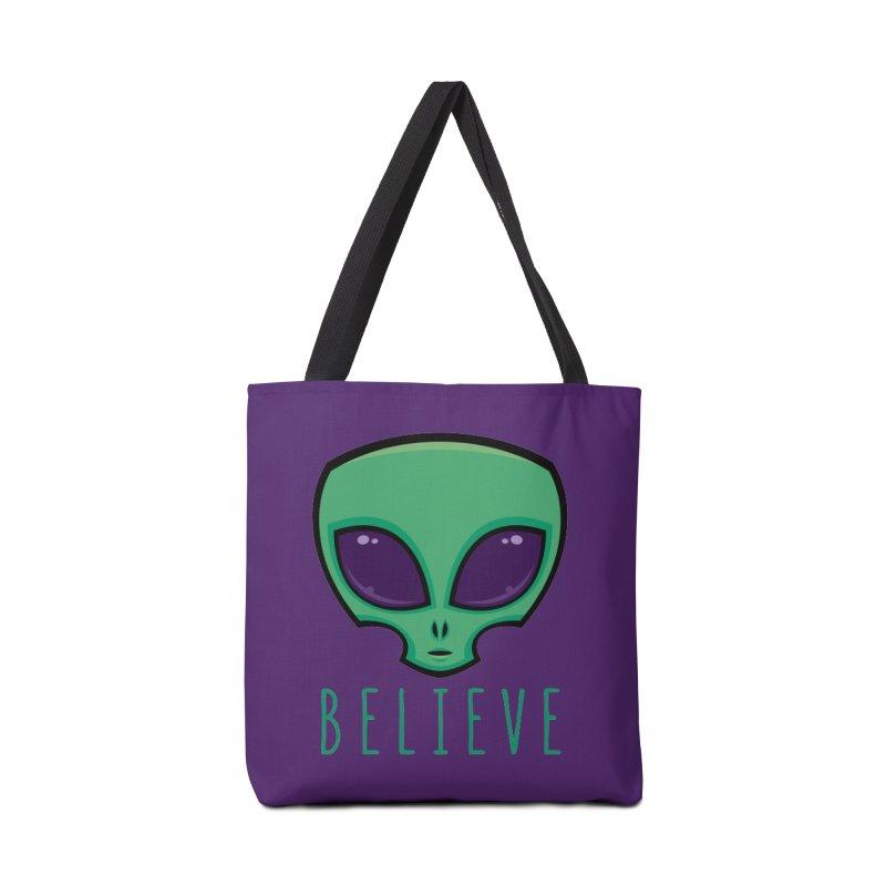Believe Alien Head Accessories Bag by Fizzgig's Artist Shop
