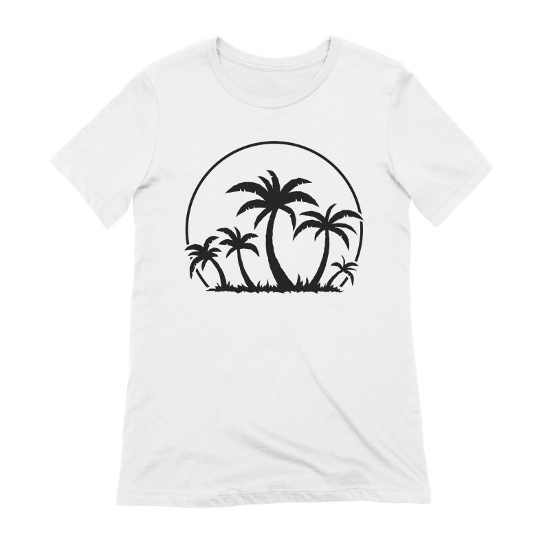 Palm Trees And Sunset in Black Women's Extra Soft T-Shirt by Fizzgig's Artist Shop