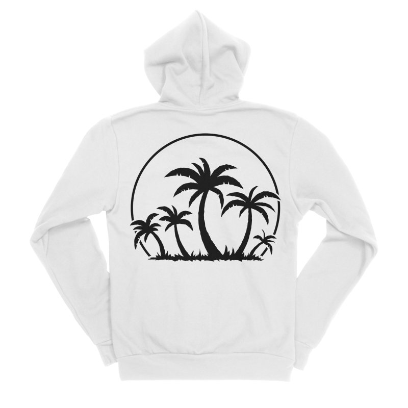 Palm Trees And Sunset in Black Women's Sponge Fleece Zip-Up Hoody by Fizzgig's Artist Shop