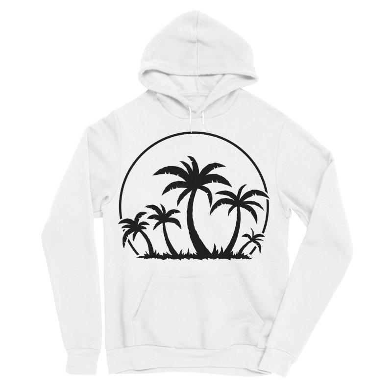 Palm Trees And Sunset in Black Women's Sponge Fleece Pullover Hoody by Fizzgig's Artist Shop