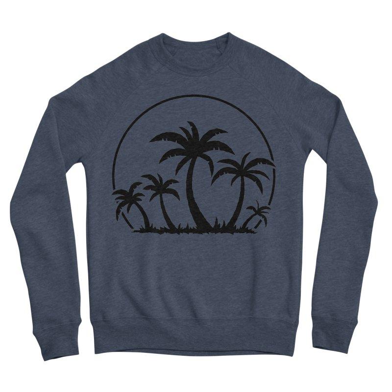 Palm Trees And Sunset in Black Men's Sponge Fleece Sweatshirt by Fizzgig's Artist Shop