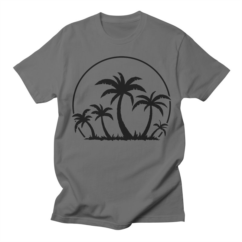 Palm Trees And Sunset in Black Men's T-Shirt by Fizzgig's Artist Shop
