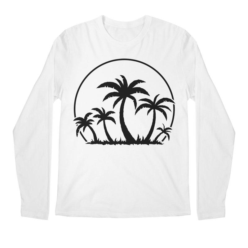 Palm Trees And Sunset in Black Men's Regular Longsleeve T-Shirt by Fizzgig's Artist Shop