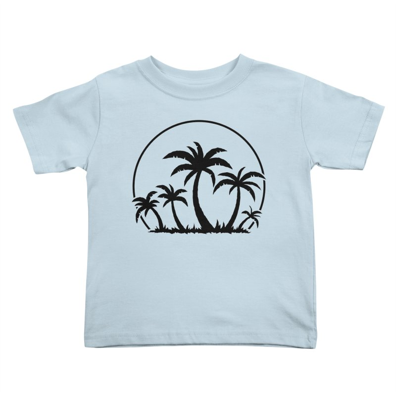 Palm Trees And Sunset in Black Kids Toddler T-Shirt by Fizzgig's Artist Shop