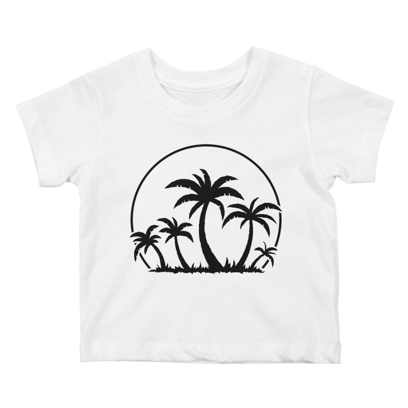 Palm Trees And Sunset in Black Kids Baby T-Shirt by Fizzgig's Artist Shop