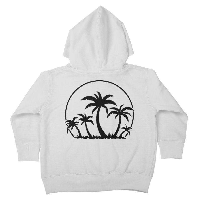 Palm Trees And Sunset in Black Kids Toddler Zip-Up Hoody by Fizzgig's Artist Shop