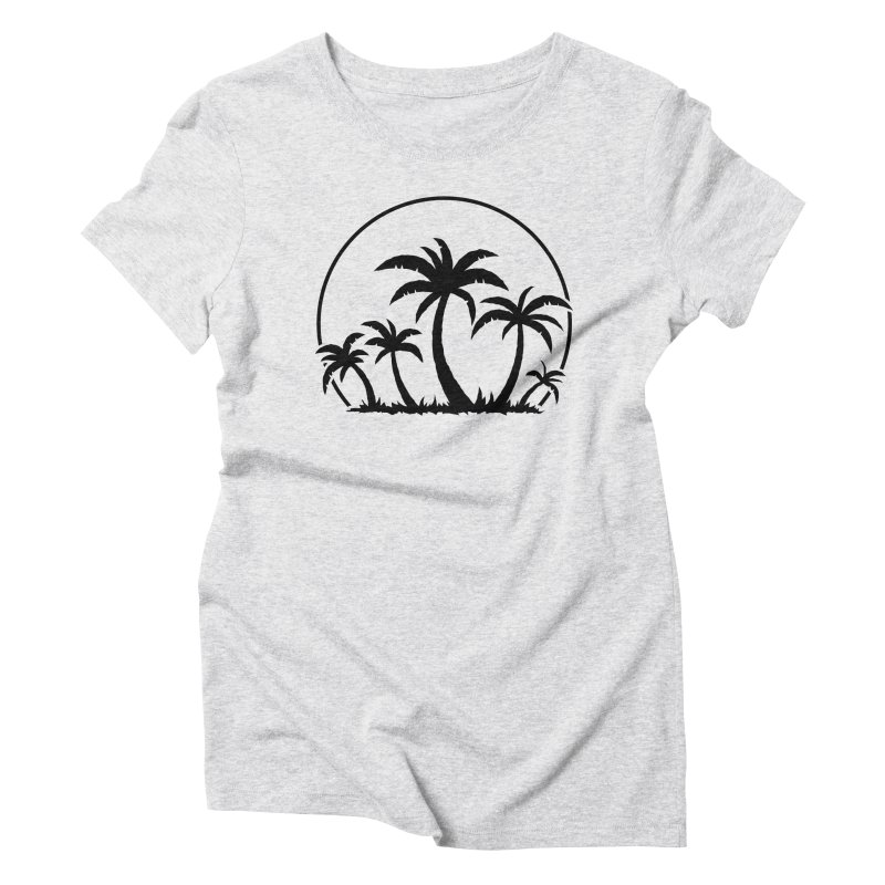 Palm Trees And Sunset in Black Women's Triblend T-Shirt by Fizzgig's Artist Shop