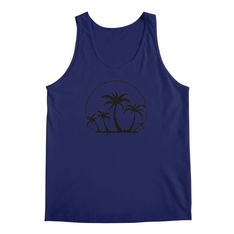 Palm Trees And Sunset in Black Men's Regular Tank by Fizzgig's Artist Shop
