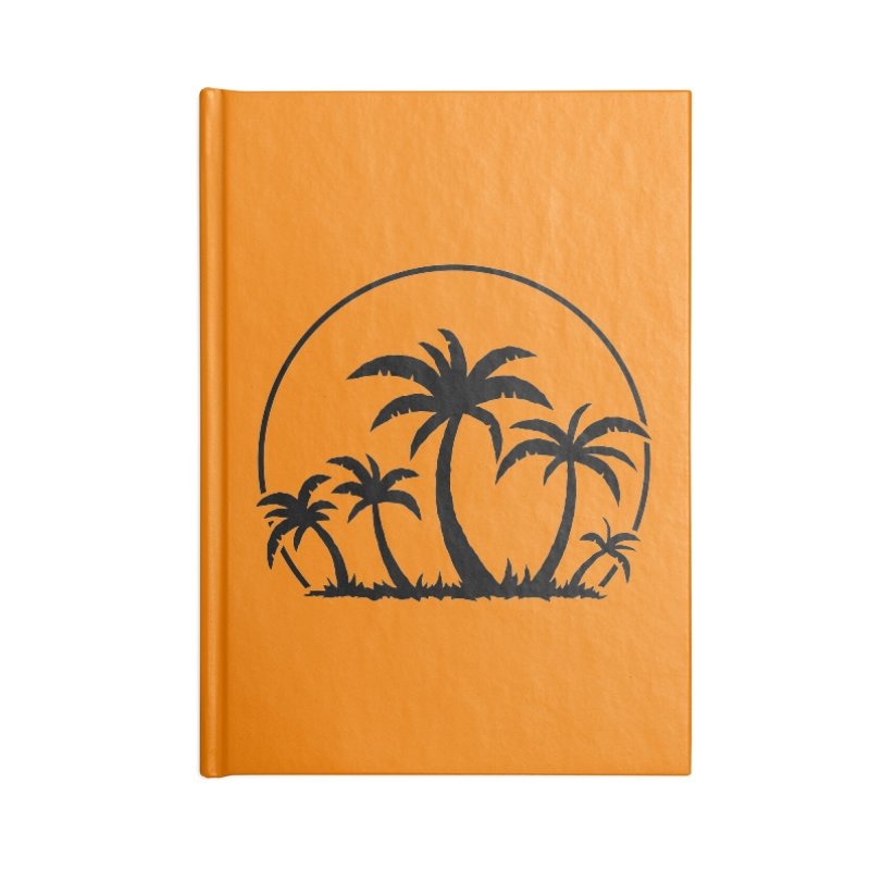 Palm Trees And Sunset in Black Accessories Notebook by Fizzgig's Artist Shop