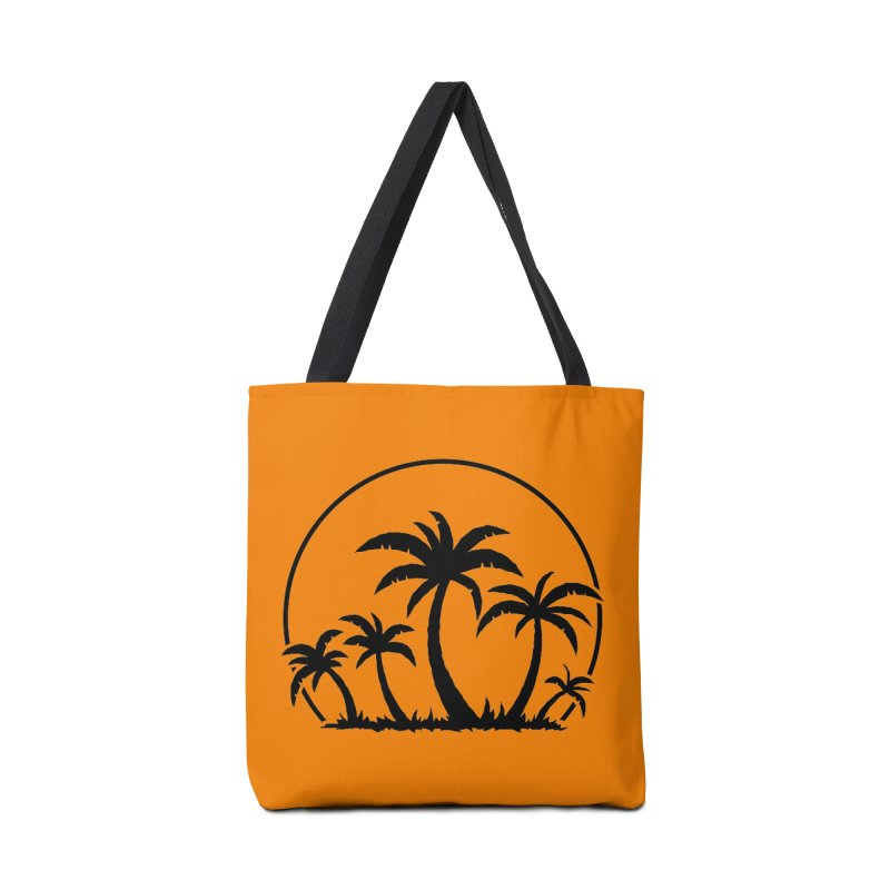Palm Trees And Sunset in Black Accessories Bag by Fizzgig's Artist Shop