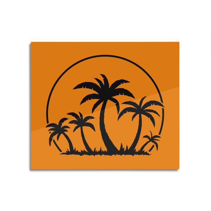 Palm Trees And Sunset in Black Home Mounted Acrylic Print by Fizzgig's Artist Shop
