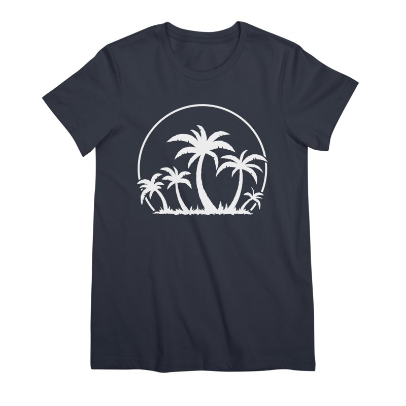 Palm Trees And Sunset in White Women's Premium T-Shirt by Fizzgig's Artist Shop