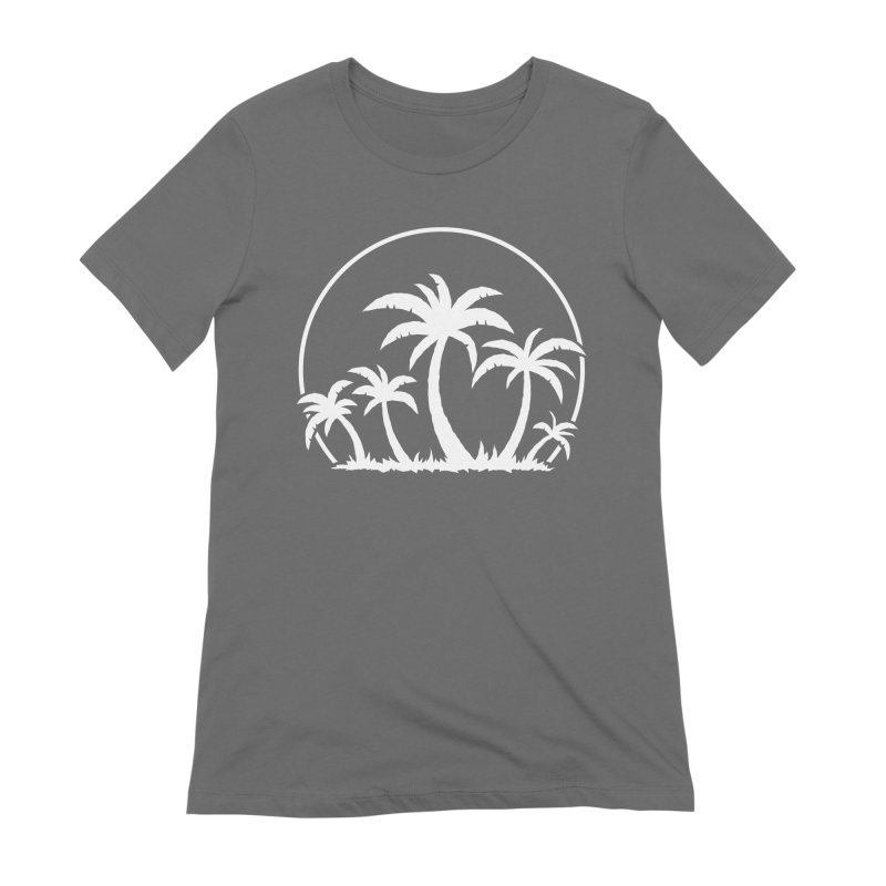 Palm Trees And Sunset in White Women's Extra Soft T-Shirt by Fizzgig's Artist Shop
