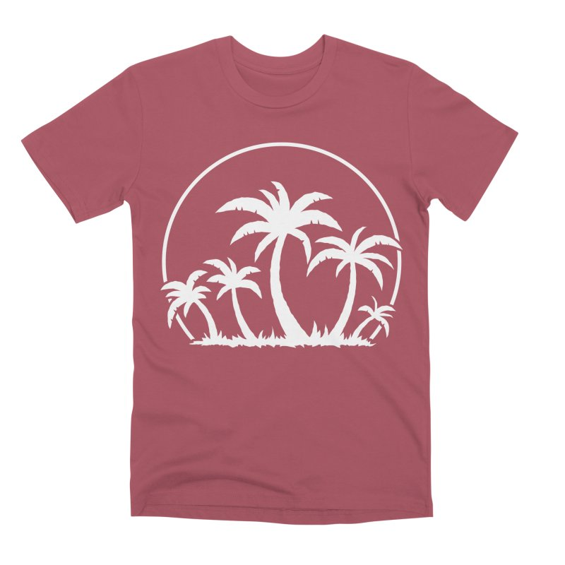 Palm Trees And Sunset in White Men's Premium T-Shirt by Fizzgig's Artist Shop
