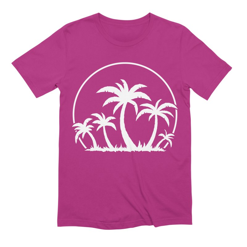Palm Trees And Sunset in White Men's Extra Soft T-Shirt by Fizzgig's Artist Shop