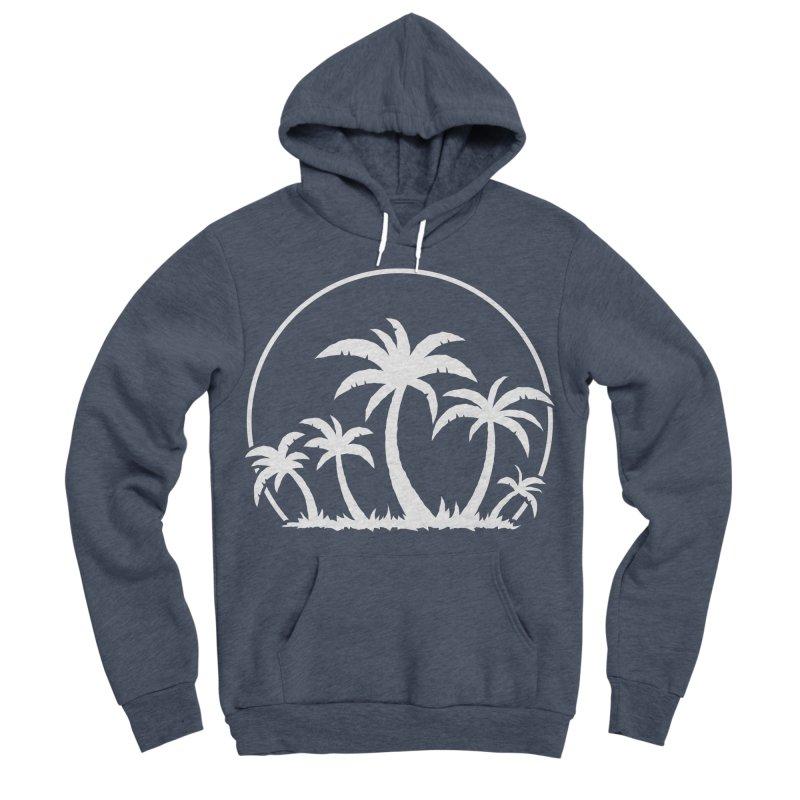 Palm Trees And Sunset in White Women's Sponge Fleece Pullover Hoody by Fizzgig's Artist Shop