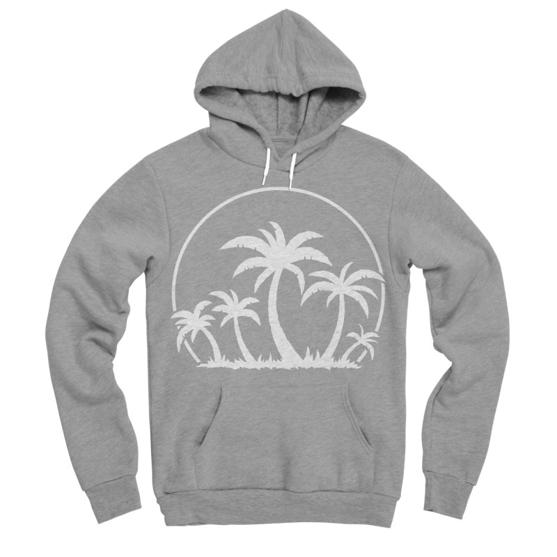 Palm Trees And Sunset in White Men's Sponge Fleece Pullover Hoody by Fizzgig's Artist Shop