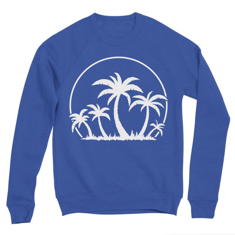 Palm Trees And Sunset in White Men's Sponge Fleece Sweatshirt by Fizzgig's Artist Shop