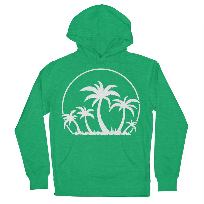 Palm Trees And Sunset in White Women's French Terry Pullover Hoody by Fizzgig's Artist Shop