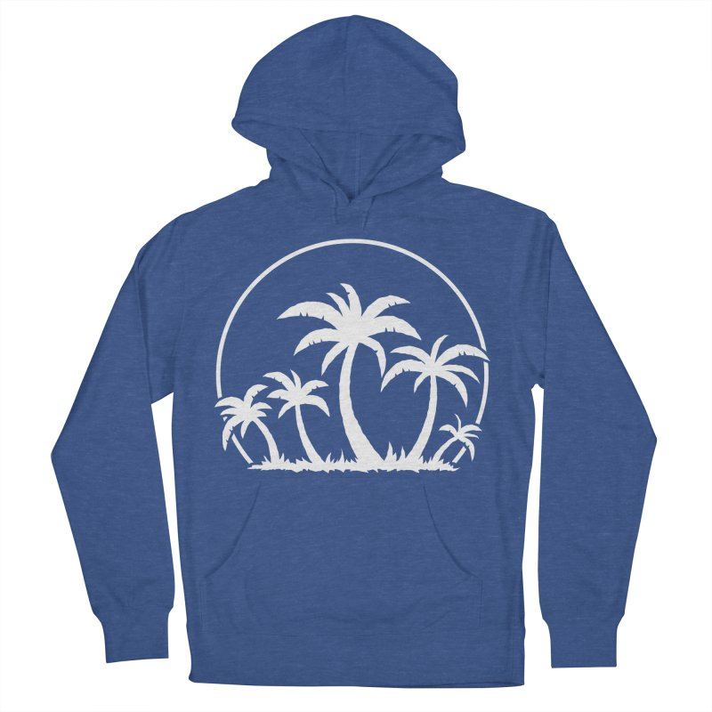 Palm Trees And Sunset in White Men's French Terry Pullover Hoody by Fizzgig's Artist Shop