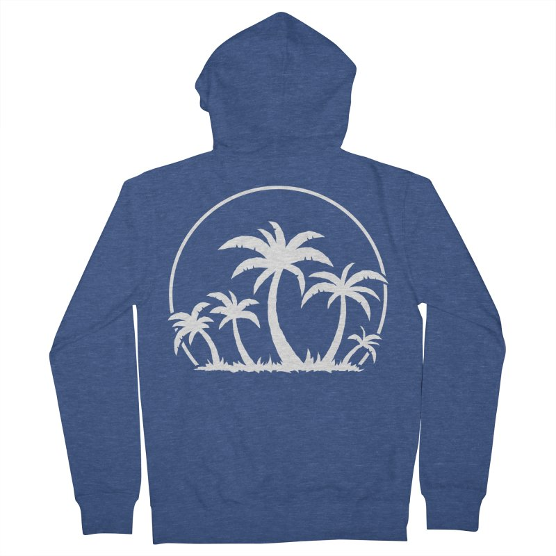 Palm Trees And Sunset in White Men's French Terry Zip-Up Hoody by Fizzgig's Artist Shop