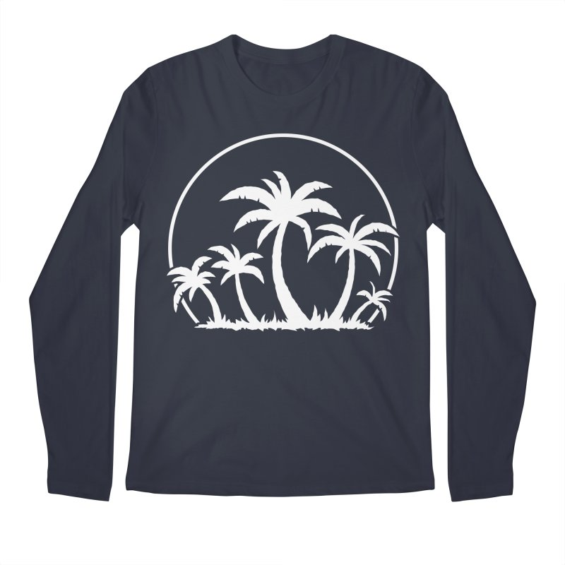 Palm Trees And Sunset in White Men's Regular Longsleeve T-Shirt by Fizzgig's Artist Shop