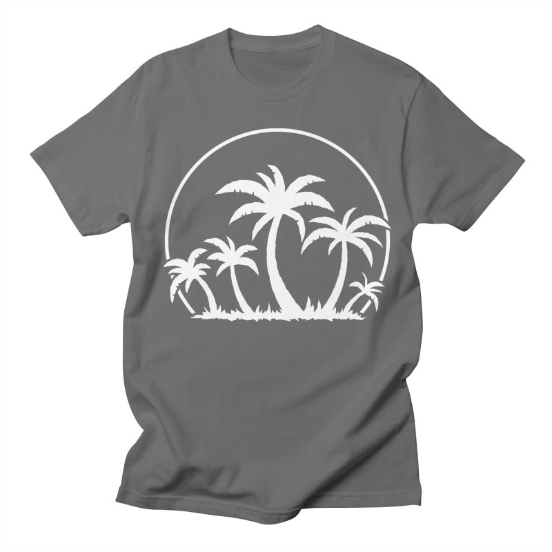 Palm Trees And Sunset in White Men's Regular T-Shirt by Fizzgig's Artist Shop