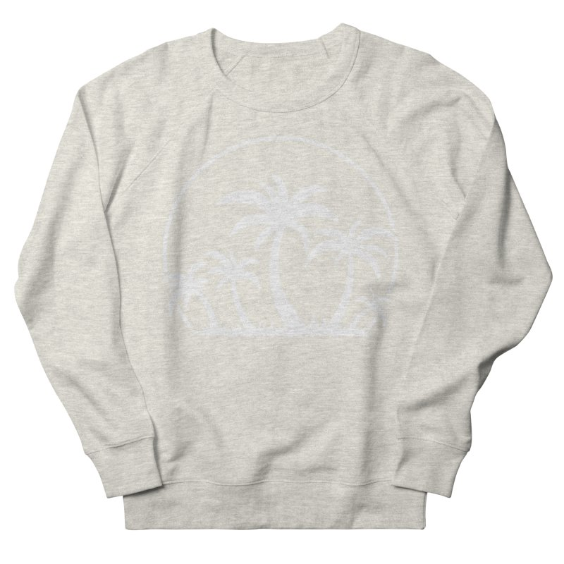 Palm Trees And Sunset in White Women's French Terry Sweatshirt by Fizzgig's Artist Shop