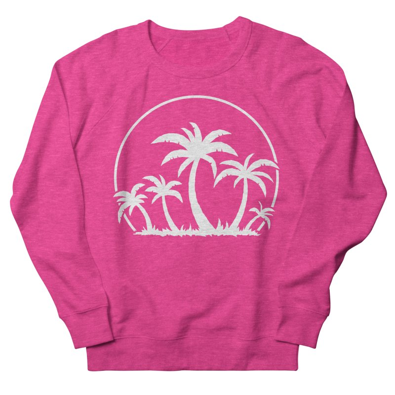 Palm Trees And Sunset in White Men's French Terry Sweatshirt by Fizzgig's Artist Shop