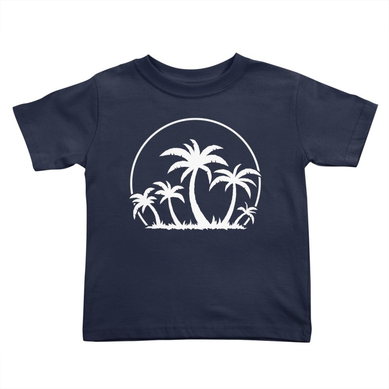Palm Trees And Sunset in White Kids Toddler T-Shirt by Fizzgig's Artist Shop