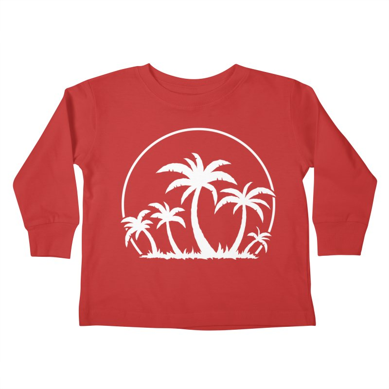 Palm Trees And Sunset in White Kids Toddler Longsleeve T-Shirt by Fizzgig's Artist Shop
