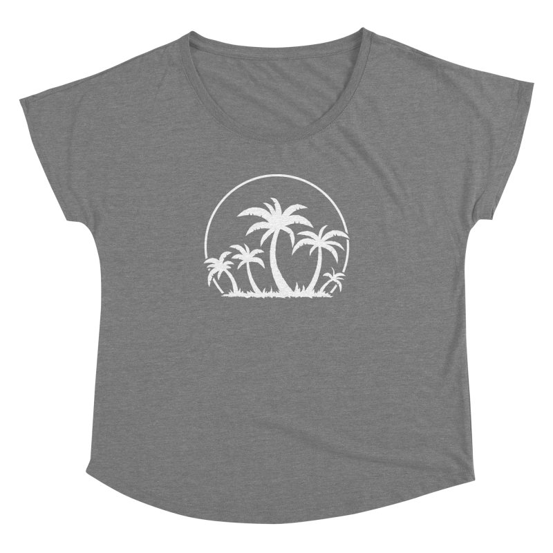 Palm Trees And Sunset in White Women's Dolman Scoop Neck by Fizzgig's Artist Shop
