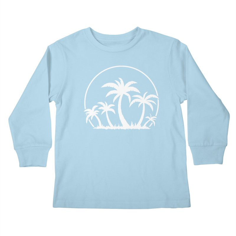 Palm Trees And Sunset in White Kids Longsleeve T-Shirt by Fizzgig's Artist Shop