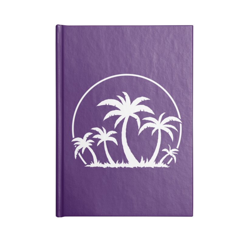 Palm Trees And Sunset in White Accessories Notebook by Fizzgig's Artist Shop