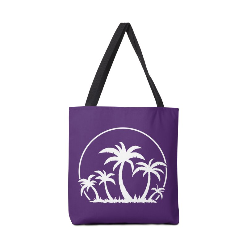 Palm Trees And Sunset in White Accessories Bag by Fizzgig's Artist Shop