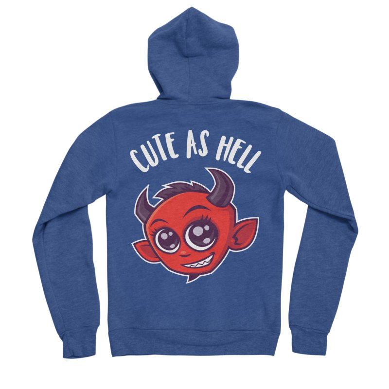 Cute as Hell Devil Women's Sponge Fleece Zip-Up Hoody by Fizzgig's Artist Shop