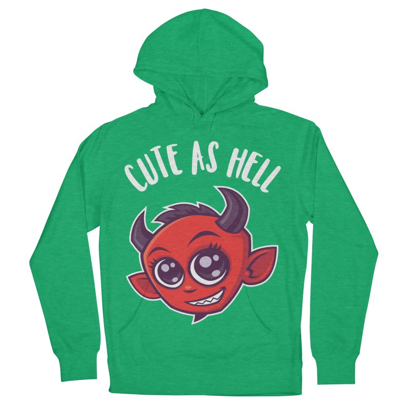 Cute as Hell Devil Men's French Terry Pullover Hoody by Fizzgig's Artist Shop