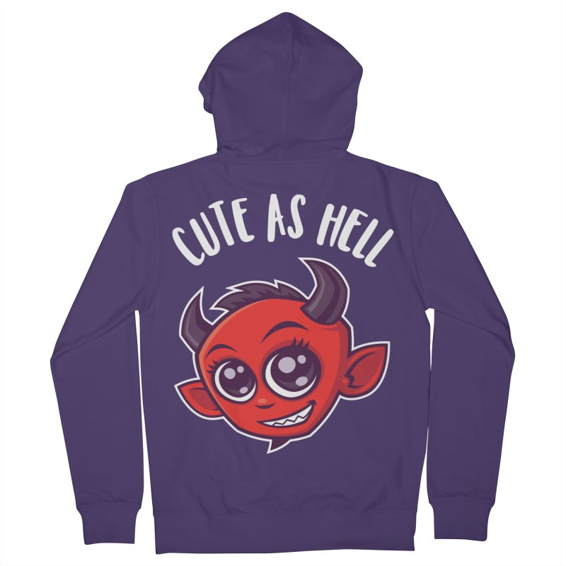 Cute as Hell Devil Women's French Terry Zip-Up Hoody by Fizzgig's Artist Shop