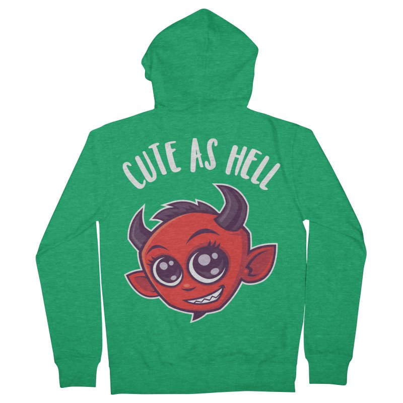 Cute as Hell Devil Men's French Terry Zip-Up Hoody by Fizzgig's Artist Shop