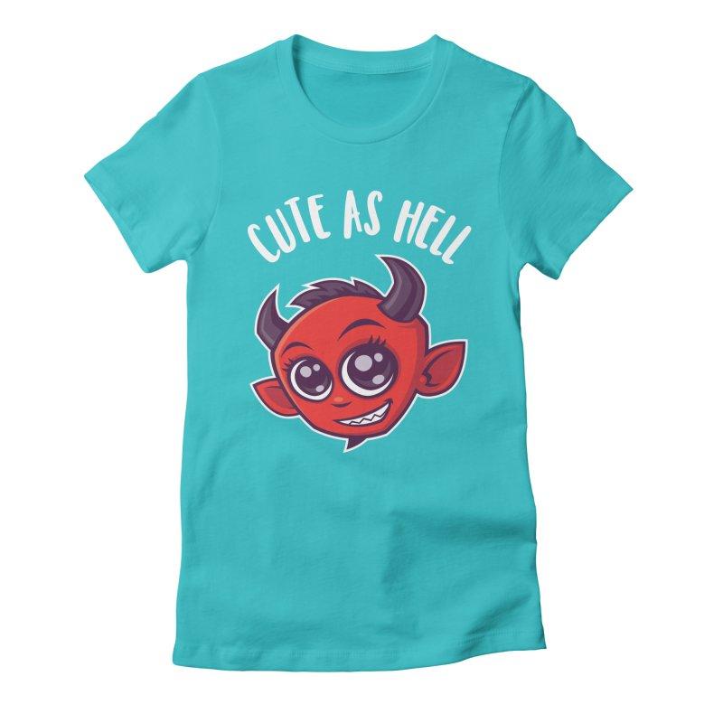 Cute as Hell Devil Women's Fitted T-Shirt by Fizzgig's Artist Shop