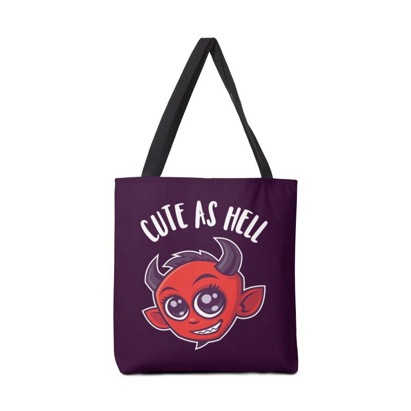 Cute as Hell Devil Accessories Bag by Fizzgig's Artist Shop