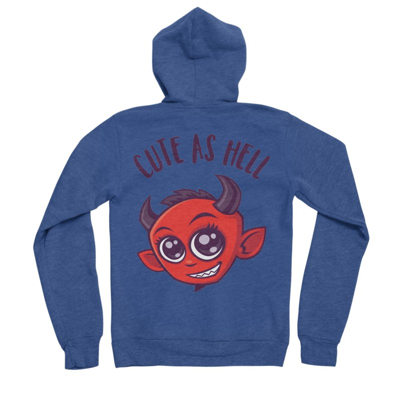 Cute as Hell Devil with Dark Text Women's Sponge Fleece Zip-Up Hoody by Fizzgig's Artist Shop