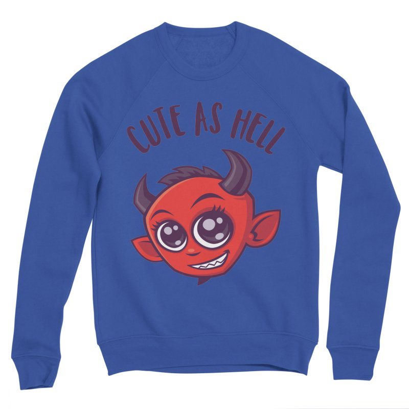 Cute as Hell Devil with Dark Text Men's Sponge Fleece Sweatshirt by Fizzgig's Artist Shop