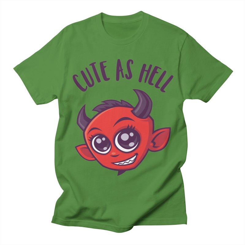 Cute as Hell Devil with Dark Text Women's Regular Unisex T-Shirt by Fizzgig's Artist Shop