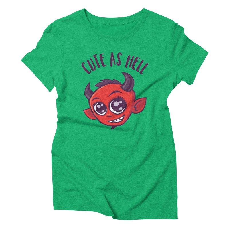 Cute as Hell Devil with Dark Text Women's Triblend T-Shirt by Fizzgig's Artist Shop