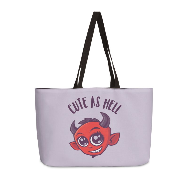 Cute as Hell Devil with Dark Text Accessories Weekender Bag Bag by Fizzgig's Artist Shop