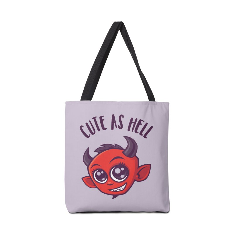 Cute as Hell Devil with Dark Text Accessories Tote Bag Bag by Fizzgig's Artist Shop