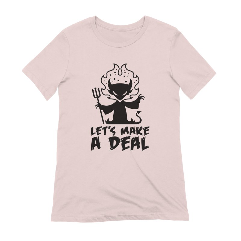 Deal With The Devil Women's Extra Soft T-Shirt by Fizzgig's Artist Shop