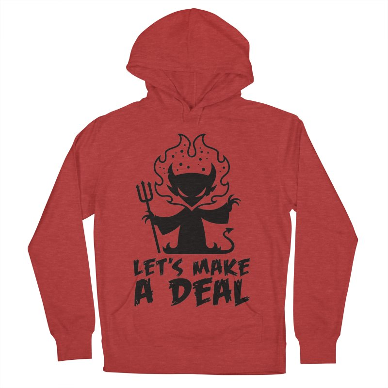 Deal With The Devil Men's French Terry Pullover Hoody by Fizzgig's Artist Shop