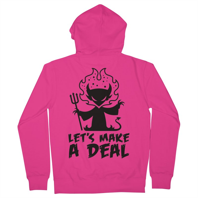 Deal With The Devil Men's French Terry Zip-Up Hoody by Fizzgig's Artist Shop